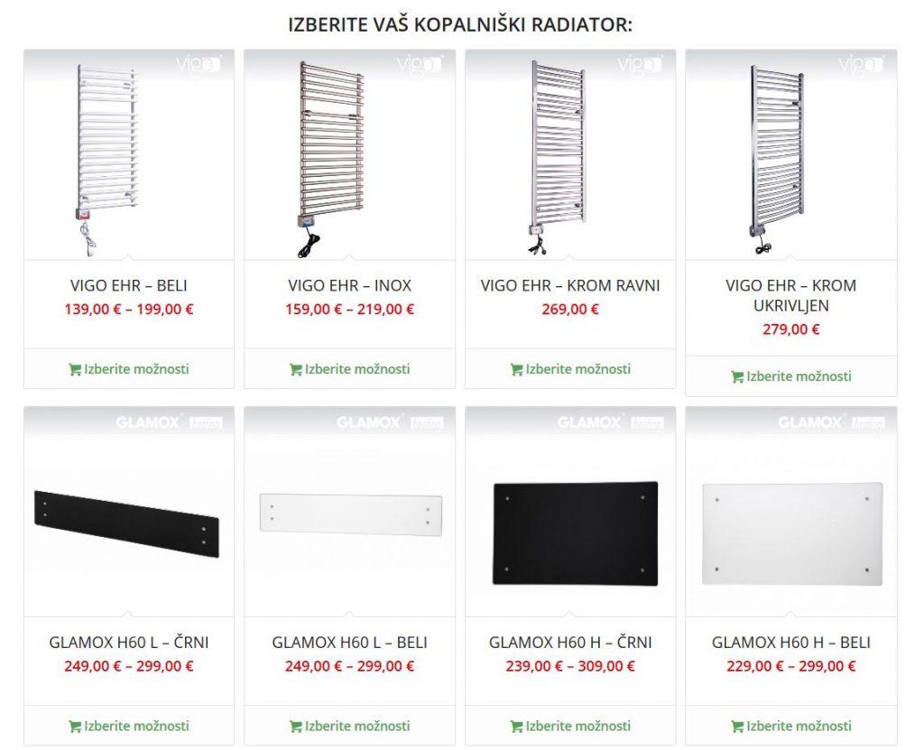 Kopalniški radiatorji